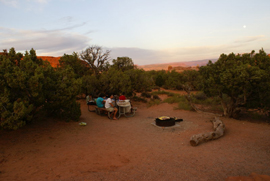 Arches NP, le camping Devil's Garden Campground